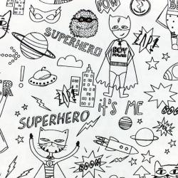 superhero - coton à colorier