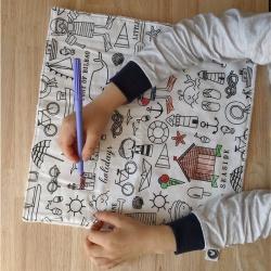 serviette de table à colorier