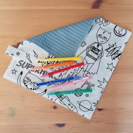 serviette de table - superhero