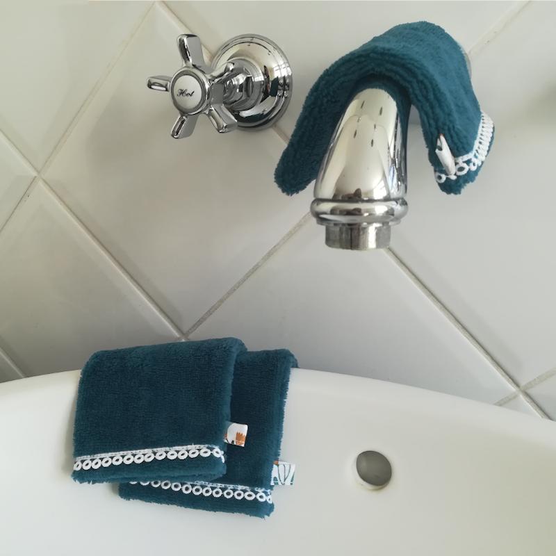 Lot de 3 gants de toilette