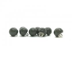 Bouton boule gris