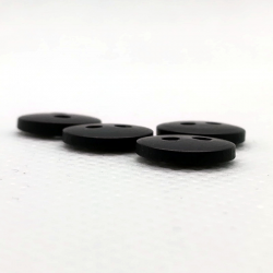 Bouton rond 10 mm - noir