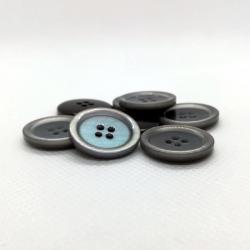 bouton nacré bleu