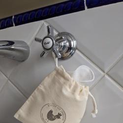 Cotons démaquillantes - Lingettes lavables en Tencel - Avec pochon de rangement