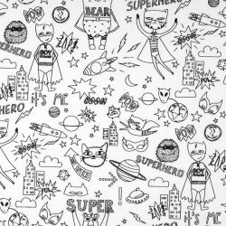 tissu à colorier - superhero