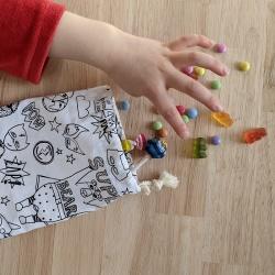 anniversaire zéro-déchet - sac à bonbons - superhero
