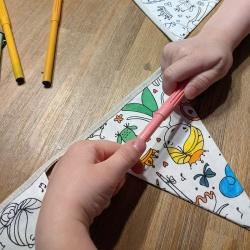 anniversaire zéro-déchet à colorier - princesses-licornes-danseuses