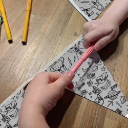 anniversaire zéro-déchet à colorier - superhero