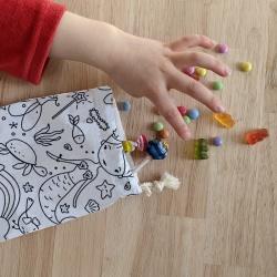 anniversaire zéro-déchet - sac à bonbons - princesses-licornes-danseuses
